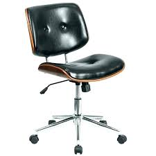 leather desk chair no arms brown leather and wood desk chair brown office chair without arms