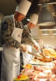 thanksgiving at the robert d gaylor dining facility joint base