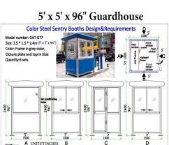 security booth guard booths portafab amusing security guard house floor plan gallery best interior