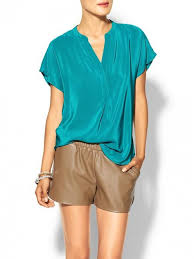 turquoise blouse daniel rainn silk flutter blouse turquoise top and clothing