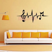 Music Note Home Decor Vinyl Wall Stickers Home Decor Living Room Music Notes Removable