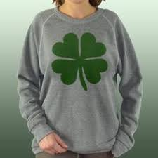 irish clover shamrock hoodie sweatshirt womens 4 leaf clover