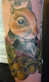 squirrel tattoo by blackstartattoo on deviantart