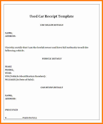 8 how to write a receipt for selling a car ledger paper