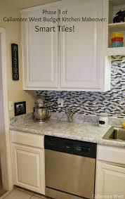 Gallamore West Phase  Of Budget Kitchen Makeover Smart Tiles - Smart tiles kitchen backsplash