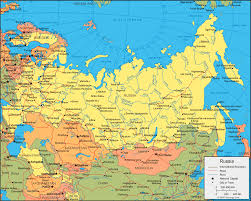 russia map with all cities russia map and satellite image