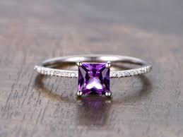 amethyst engagement rings amethyst diamond engagement ring