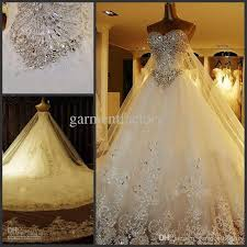 discount luxury 2016 arabic bling wedding dress custom sweetheart