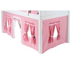 Pink And White Curtains Bunk Bed Curtains Pink U0026 White Bed Accessories Maxtrix
