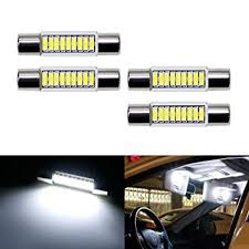 led replacement light bulbs for cars amazon com ijdmtoy 4pcs extremely bright 9 smd 29mm 6614 led