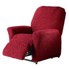 housse de canapé bi extensible housse fauteuil relaxation gaufrée bi extensible blancheporte