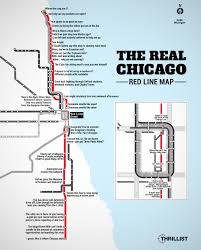 Map Of Cta Chicago by The Real Red Line Map Chicago Cta Thrillist