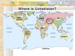 uzbekistan map in world uzbekistan history