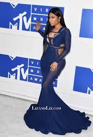 nicki minaj inspired royal blue cut out celebrity dress mtv