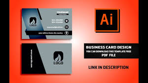 business card design vector file free download illustrator cc
