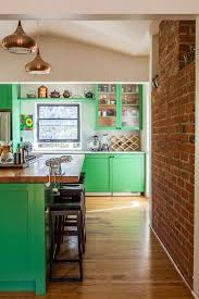 Green Cabinet Kitchen 55 Best Colorful Cabinets Images On Pinterest Kitchen Home And