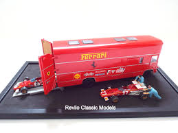 ferrari classic models ferrari 1 43 scale race transporter set by brumm revilo classic