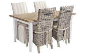 Of Natural Rattan Dining Chairs Rattan - Dining table with rattan chairs