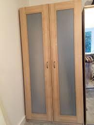 Ikea Aneboda Dresser Slides by Double Ikea Pax Birch Wardrobe Aneboda Doors In Leicester