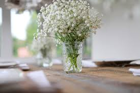 baby s breath centerpiece beautiful affordable weddings the centerpieces paperdirect