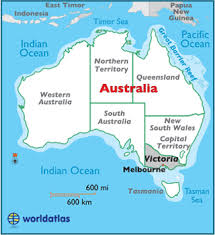 australia world map location map geography of map of
