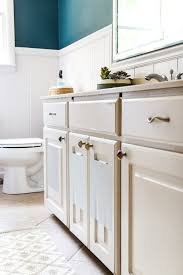 White And Beige Bathrooms Teal Painted Bathroom Makeover Bless U0027er House