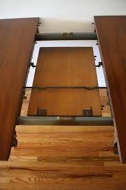 home design magnificent hidden leaf tables 1950s round teak