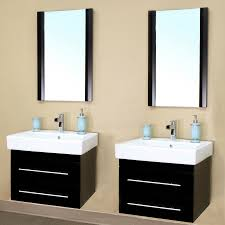 Bathroom Vanities Free Shipping by 48 Inch Double Sink Wall Mount Bathroom Vanity In Black Uvbh203102d