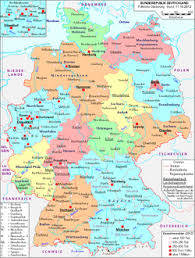 map of germny geography of germany