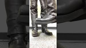 motorcycle harness boots stomping harley harness boots youtube