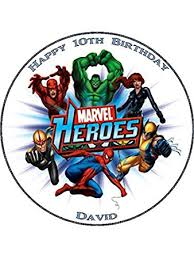 marvel cake toppers marvel s personalised premium rice paper cake topper 7 5