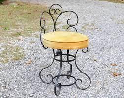 Wrought Iron Vanity Set Vanity Chair Etsy