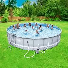 swimming pools coleman power steel 22 x 52 frame swimming pool set walmart com