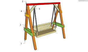 Backyard Swing Plans by Garden Swing Plans Free Garden Plans How To Build Garden Projects