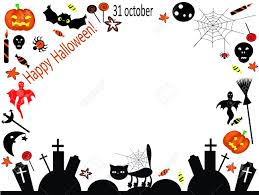 halloween border ghost painting stock photos u0026 pictures royalty free ghost