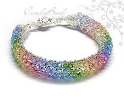 multi color swarovski crystal bracelet images Rainbow bracelet crystal bracelet swarovski by candybead on zibbet jpg