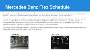 mercedes schedule b service mercedes a service and b service