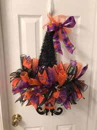 Dollar Tree Curtains Dollar Tree Pumpkin And Witches Hat Wreaths Debbiedoos