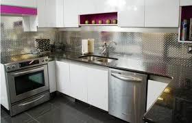 Stainless Steel Backsplash Sheet Of Stainless Steel by Stainless Steel Backsplash Panel Black Marble Glass Countertop