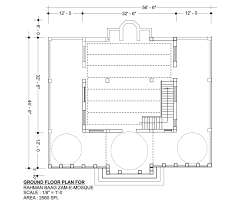 floor plan of mosque current situation academic institute of shompashi