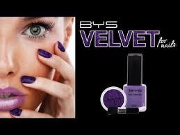 bys velvet for nails tutorial youtube