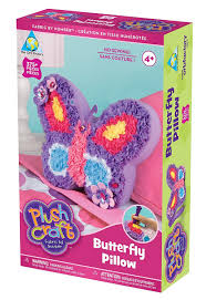 amazon com the orb factory limited plush craft butterfly pillow