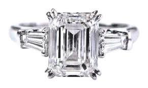 harry winston ring harry winston d emerald baguette cut diamond 3 platinum