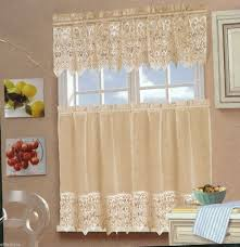 Kitchen Valances And Tiers by 3pcs Laura Ashley Ivory Kitchen Curtains Tiers And Valance Set