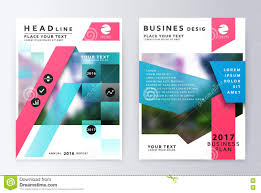 Template For A Business Plan Free Download Annual Report Brochure Business Plan Flyer Design Template Stock