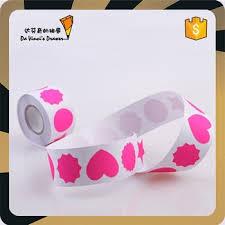 sticker designen und bestellen fluro pink shapes design size 3 cm stickers on a roll roll sticker