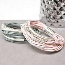 multi leather bracelet images Multi strand leather bracelet by jamie london jpg