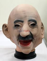buy scary full face mask high quality latex rubber gandhi online