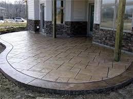 Concrete Stain Colors For Patios Nutmeg Gold Sandstone Concrete Patios Concrete By Design