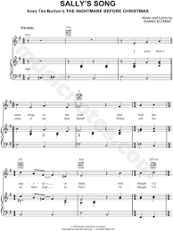 sally s song from the nightmare before sheet in